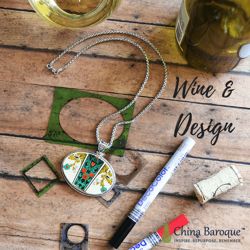 social media ad for wine and design parties at china baroque